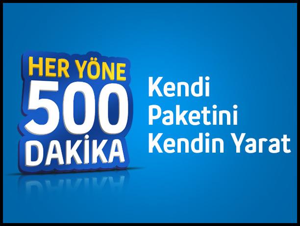 Turkcell Ben Yaptım 500 Paketi