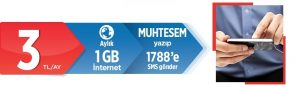 Pttcell Muhteşem 1 Gb İnternet Paketi