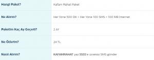 Türk Telekom Kafam Rahat Paketi