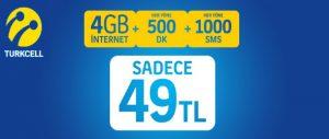 Turkcell İnterneti Bol 1000 Paketi Faturalıya Geçiş Kampanyası