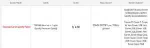 Vodafone Faturasız Esnek Spotify Paketi