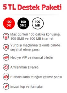 Vodafone KaraKartal 5 TL Destek Paketi