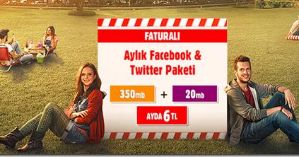 Vodafone Facebook ve Twitter Paketi