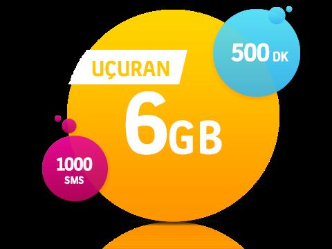 Turkcell Uçuran 6 GB Paketi