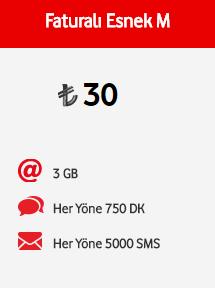 Vodafone Faturalı Esnek M