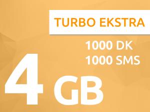 Turkcell Dört Dörtlük Paketler Turbo Ekstra 4 GB Paketi
