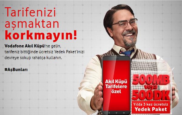 Vodafone Yedek Paket Alma